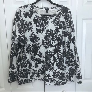 J Crew XL floral Sweatshirt